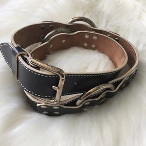 Dolce & Gabbana Black Metal Belt